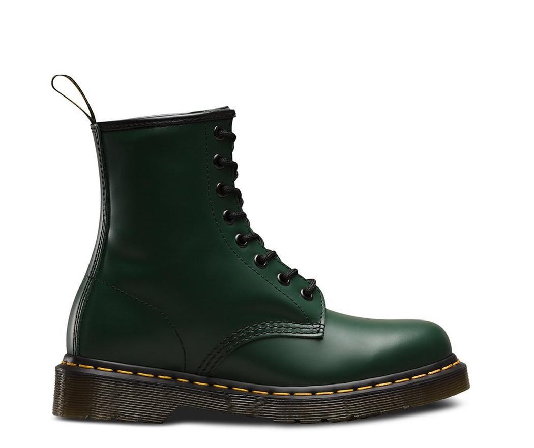 На фото ботинки Dr.Martens 1460 Green Smooth
