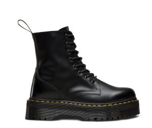 На фото ботинки Dr.Martens Jadon Black Polished Smooth