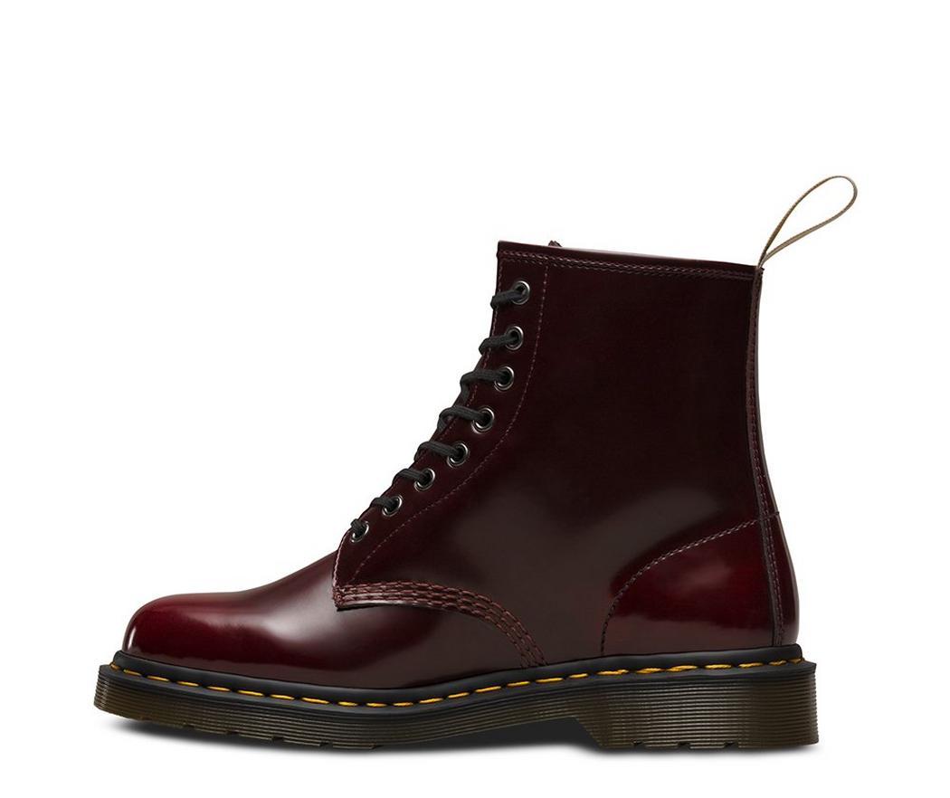 Vegan Boot | DR. MARTENS 1460 8 Eye Boot Cherry Red Oxford